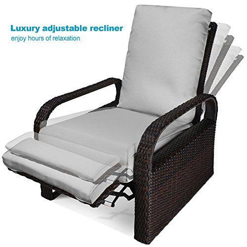 luxury patio recliner chair babylon