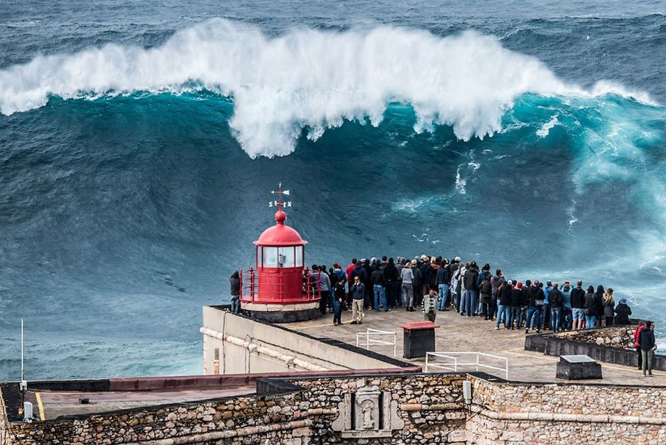 Giant Wave Nazare Portugal Photo One