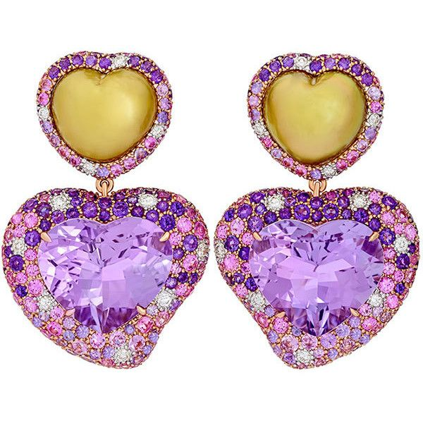 Margot McKinney Jewelry Hearts Desire Rose de France Amethyst Earrings