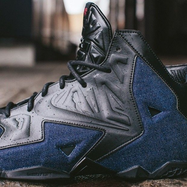 The EXT edition of the Nike LeBron 11 gets a leather and denim upgrade with  the reveal of the Nike LeBron 11 EXT