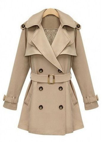 Spring Autumn Long Sleeve Apricot Trench Coat for OL - Apricot – The Closet Cloud