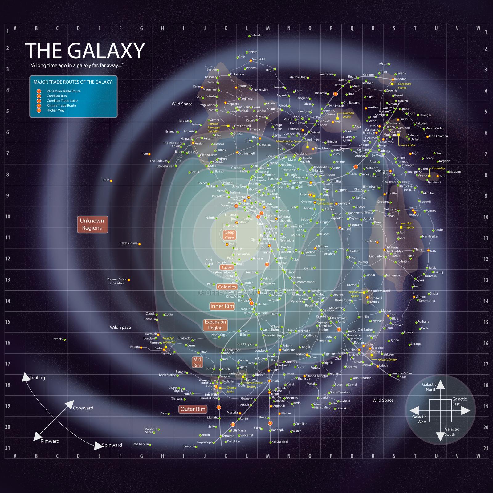 Star Wars -- Galaxy Map with BG by Offeye   Star Wars RPG ...