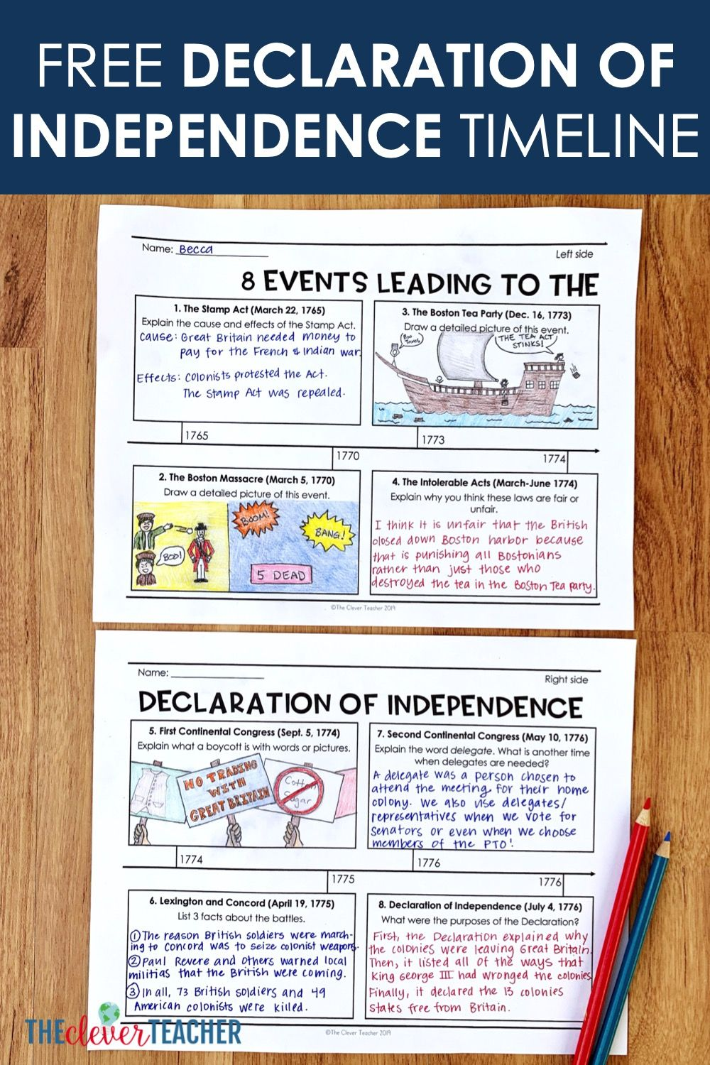 small resolution of Free Road to Revolution Timeline Lesson   8th grade history