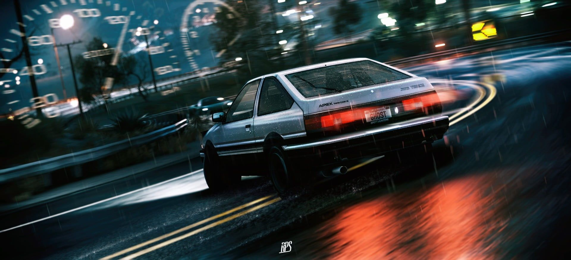 Silver Coupe Car Initial D Drift Toyota Ae86 Toyota Sprinter