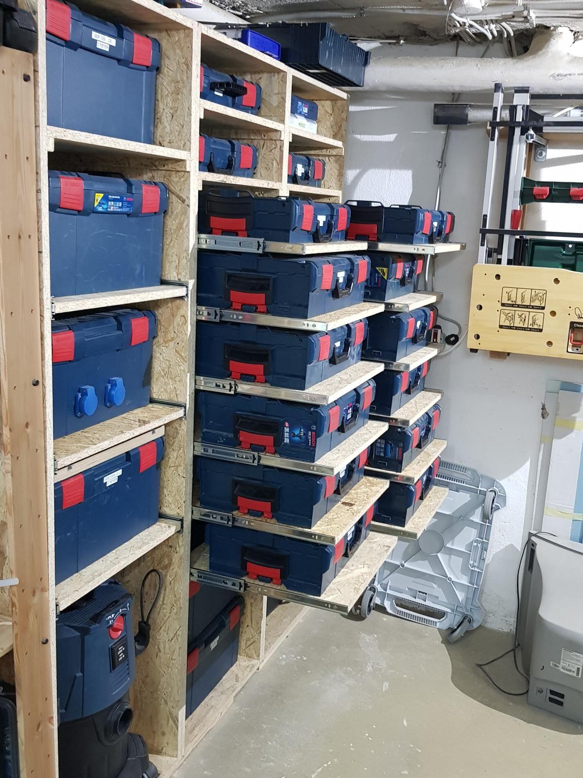 Forum Projekt L Boxx Schrank Bauen Boschptbeucommunityde Bosch Professional In 2020 Schrank Bauen Aufbewahrung Werkstatt Garagenstauraum
