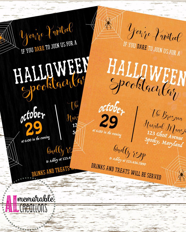 Halloween Invitation/Halloween Spooktacular/Halloween Party/Adult ...