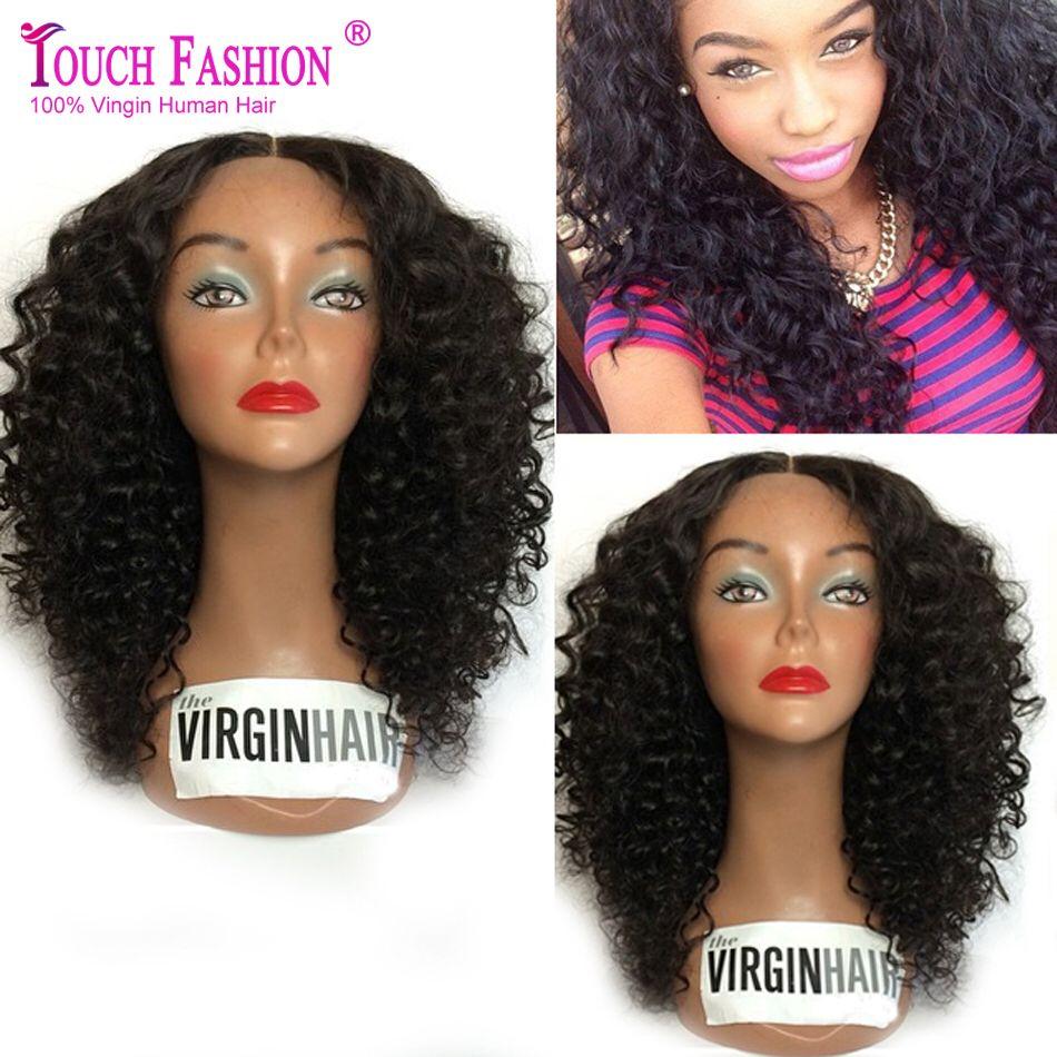 Best Unprocessed Virgin Brazilian Curly Full Lace Wig Glueless