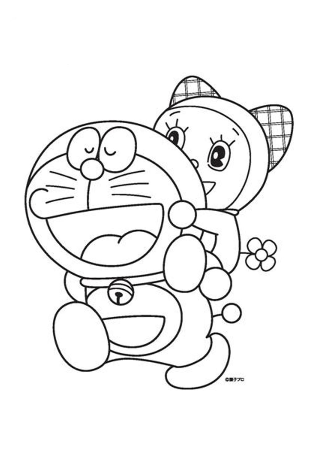 Coloring And Drawing Mewarnai Doraemon