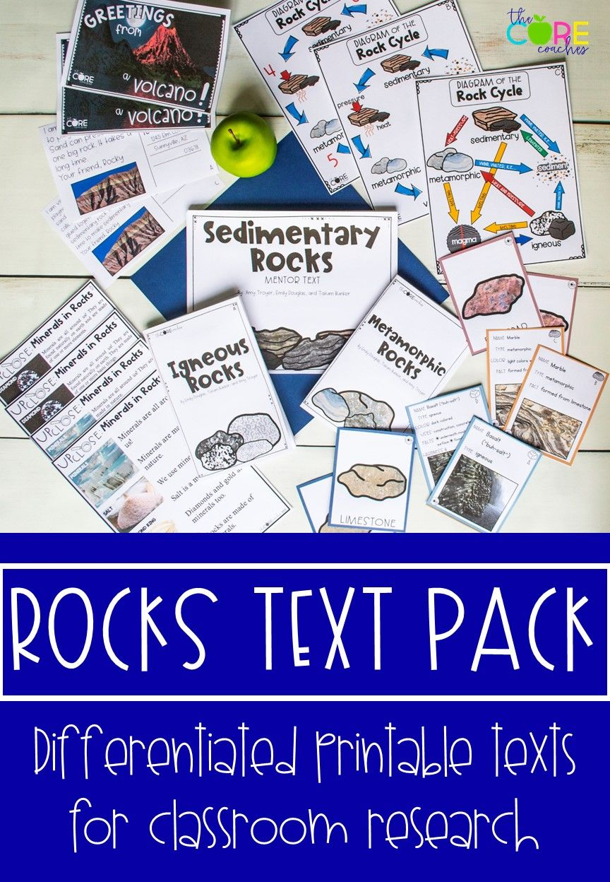 Rocks Research Project Differentiated Science Texts Science Text Research Projects Free Science Lesson