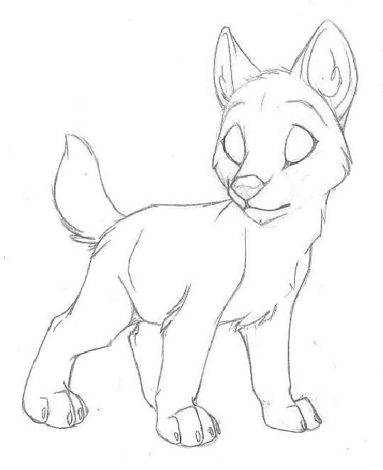 Wolf Pup Drawing : drawing, Anime, Animal, Drawings,, Sketches,, Drawings