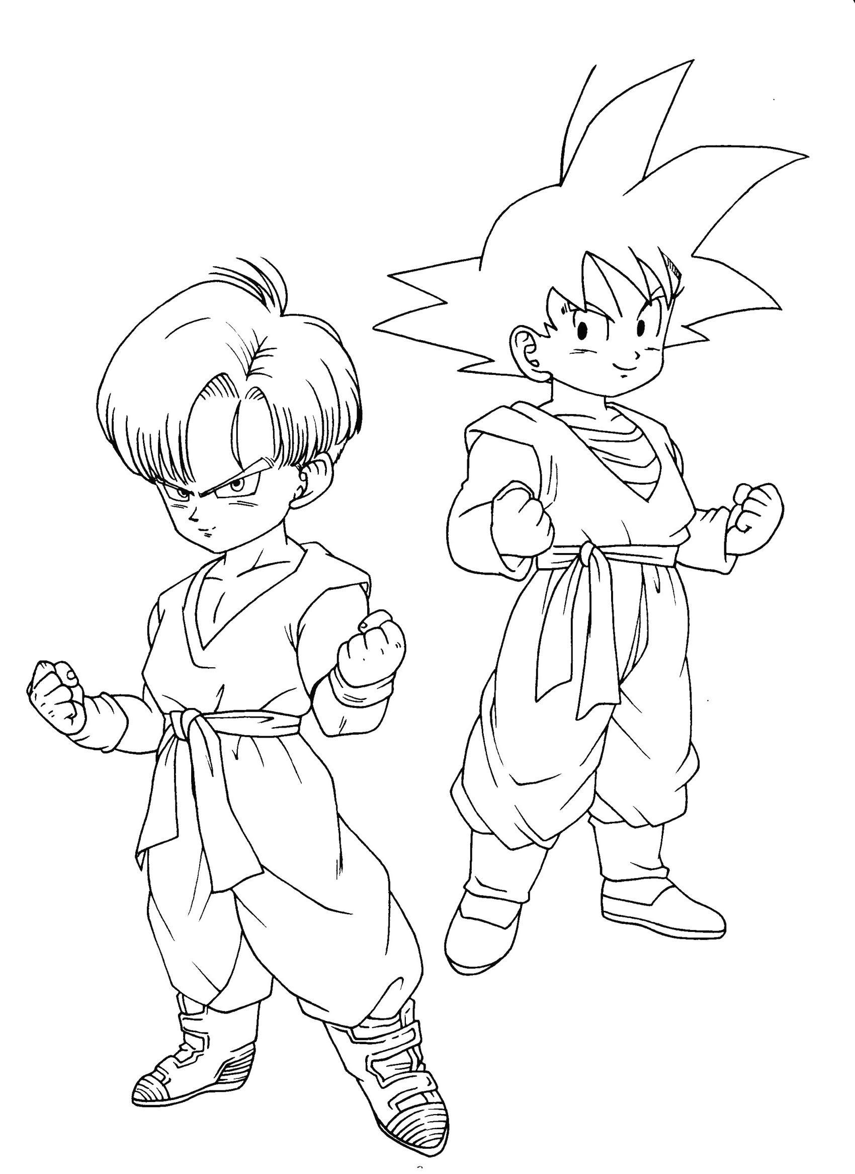 Coloriage Dragon Ball Z Goku Black