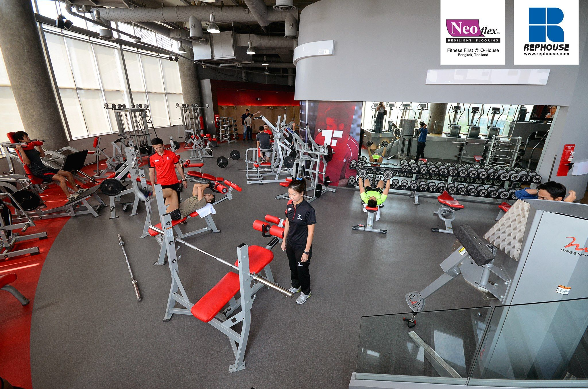 Neoflex 600 Series Reptiles With Graphics Fitness First Platinum Q House Lumpini Thailand Floor Workouts Gym Flooring Rubber Gym Flooring