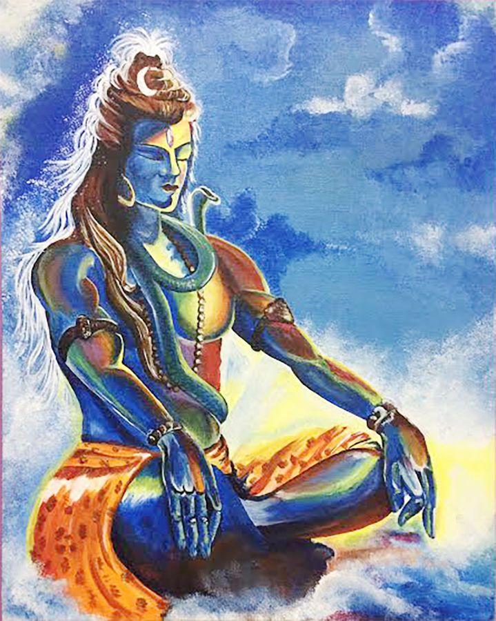 lordshiva.jpg (719×900) Cool paintings, Lord shiva