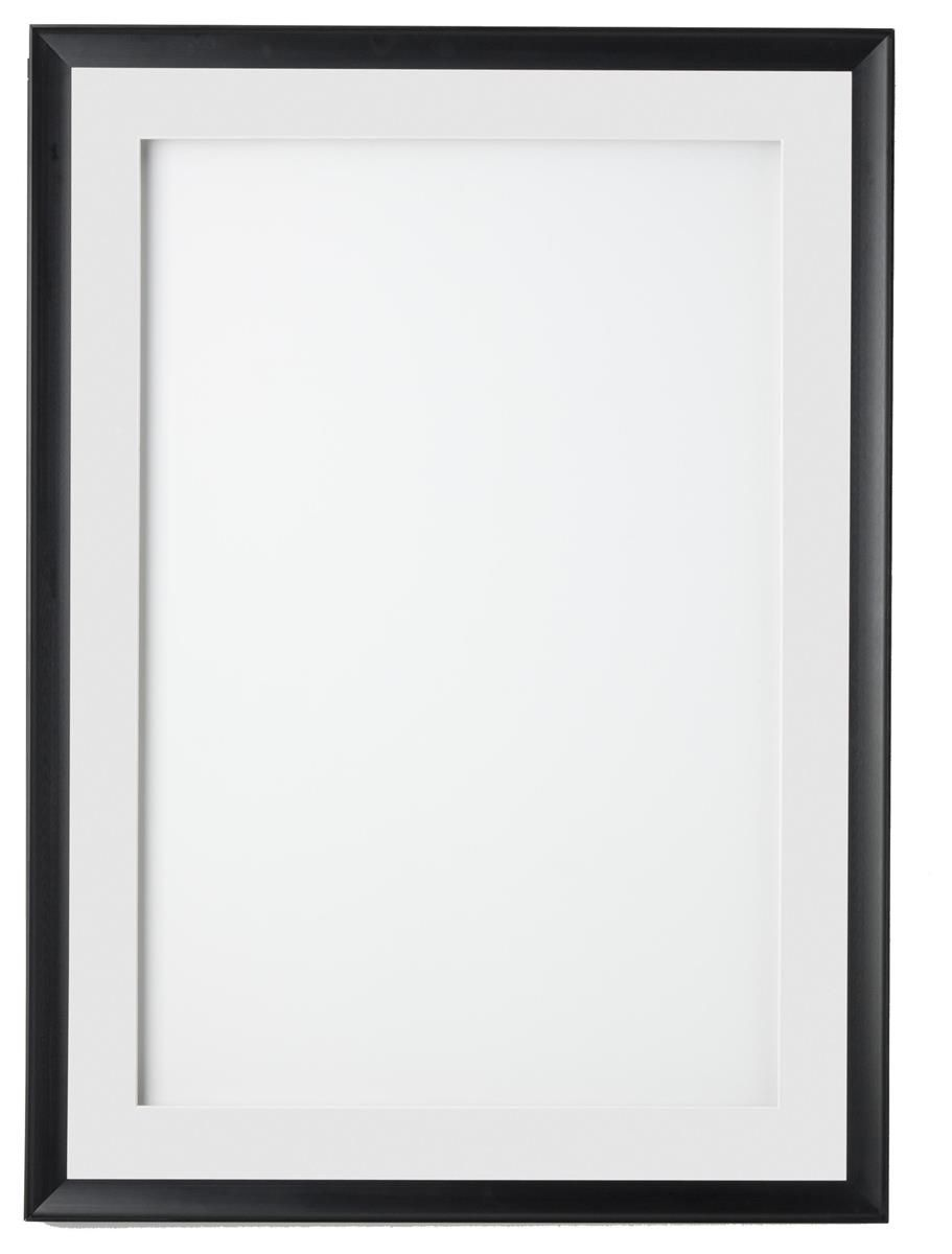 24 X 36 Poster Frame For Wall Swing Open Door 2 Mats Black White