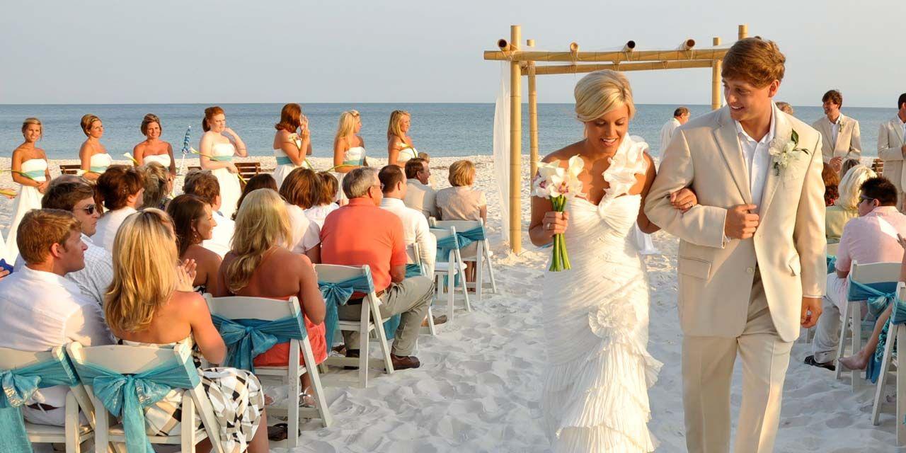Alabama Weddings Packages In Gulf Shores And Orange Beach Pensacola Beach Weddings Bigdayw Beach Wedding Packages Beach Theme Wedding Florida Beach Wedding