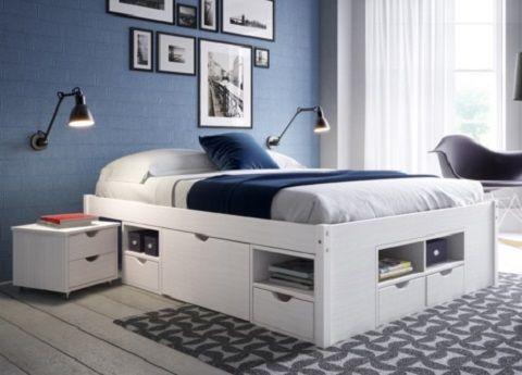 cama casal gavetas - madeiramadeira   casa   Pinterest   Camas ...