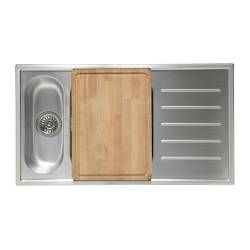 Beech wood cutting board that snugs right into Boholmen sink. IKEA ... | {Küchenunterschrank ikea 10}