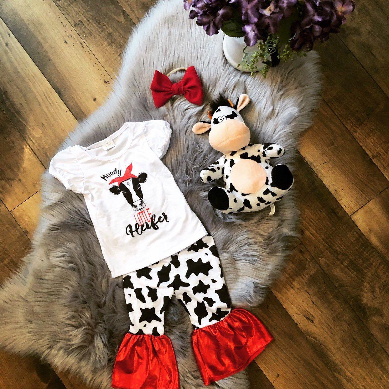 Cow Shirt Moody Little Heifer Shirt Toddler Girl Shirt
