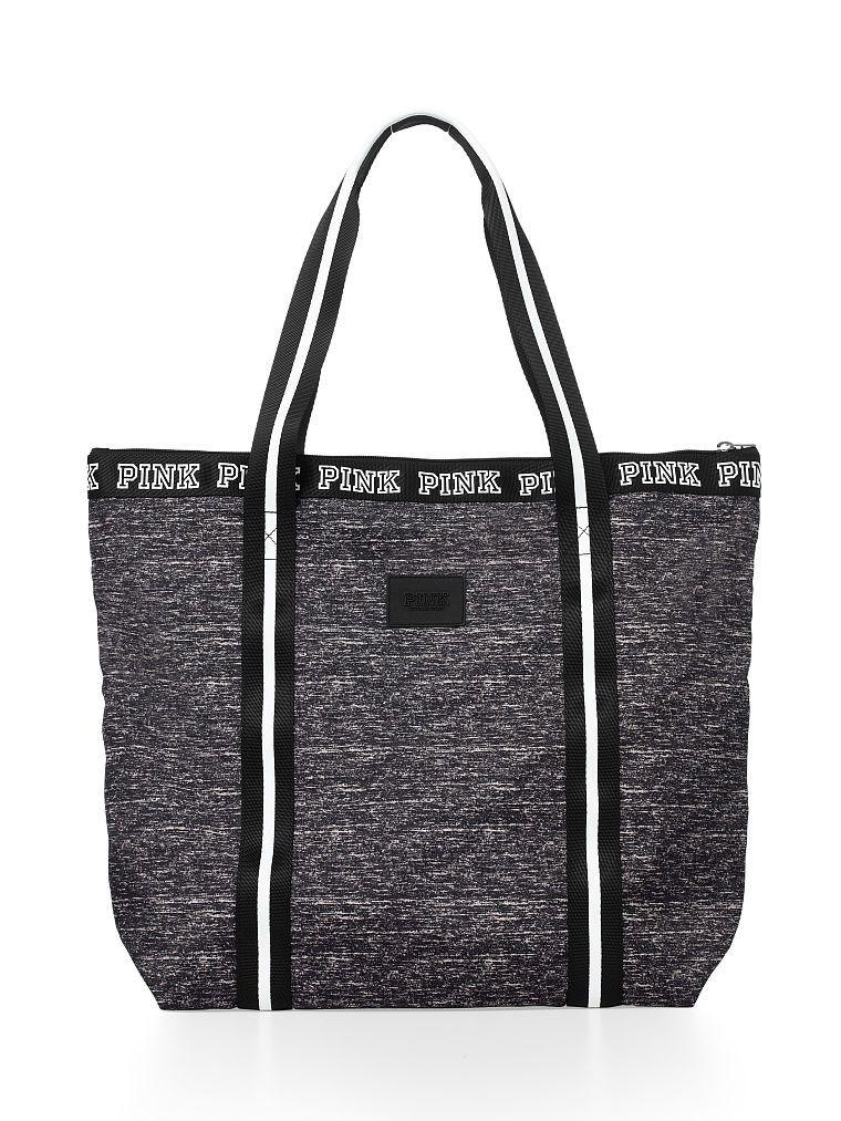 3f8889973f Zip-Top Tote - PINK - Victoria s Secret in Grey Marl