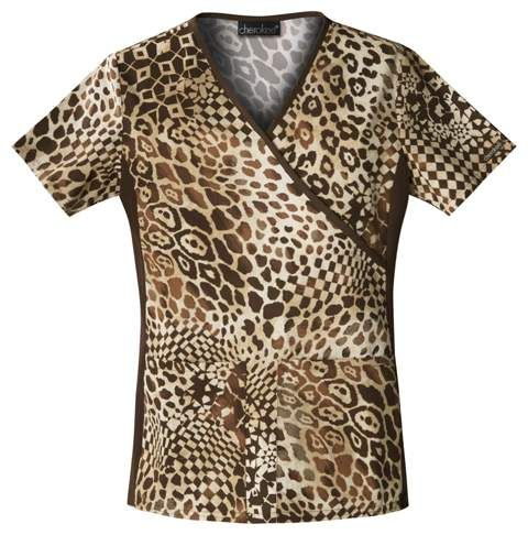 Jungle Queen Leopard Print Nursing Scrub Top #uniformsthatrock