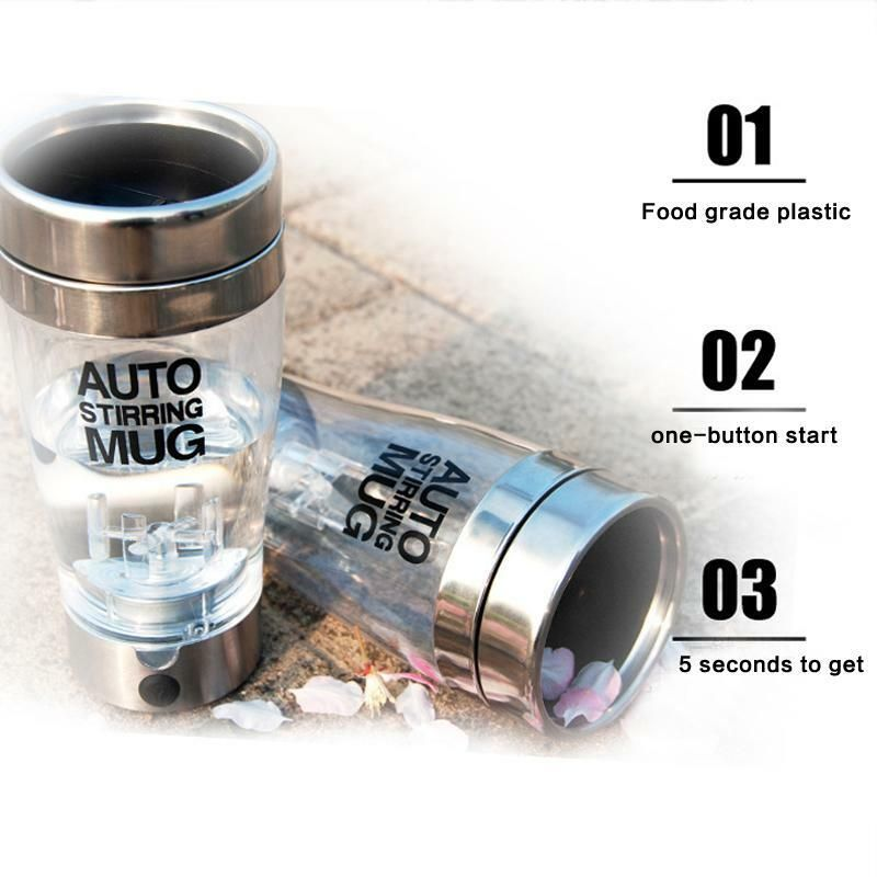 Self Stirring Stainless Steel Transparent Cup sale present