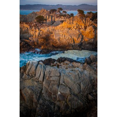 Zatista Limited Edition 'Point Lobos Sunset' by David Page Photographic Print