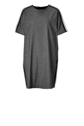 Neil Barrett Houndstooth Dress with Leather Trim, $995;