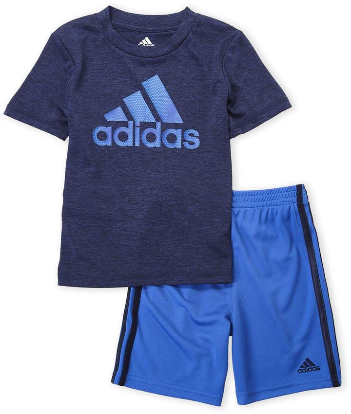 Boys 4 7) Two Piece Logo Tee & Shorts Set | SON | Boys