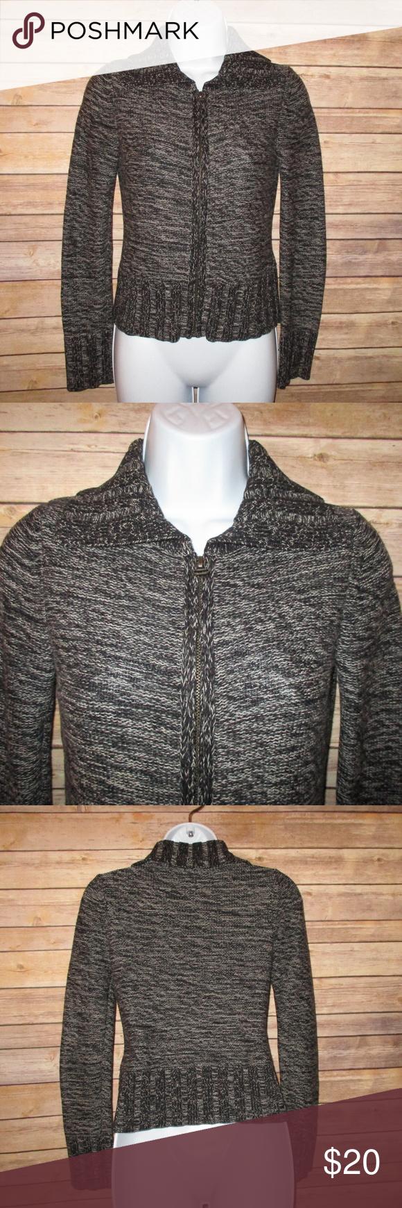 Rubbish Grey Zipper Sweater Jacket Womens XS 100 cotton