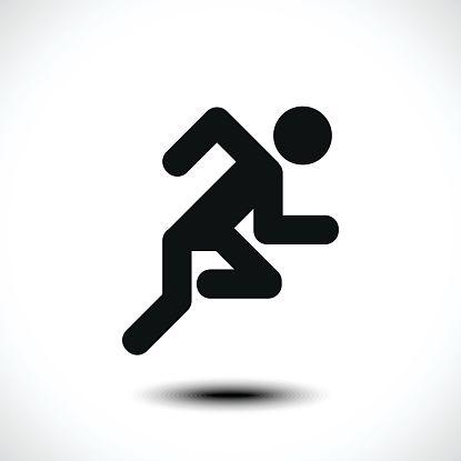 Running Man Icon Vector Art Illustration Ilustracao 3d Fundos Pretos Pictogramas