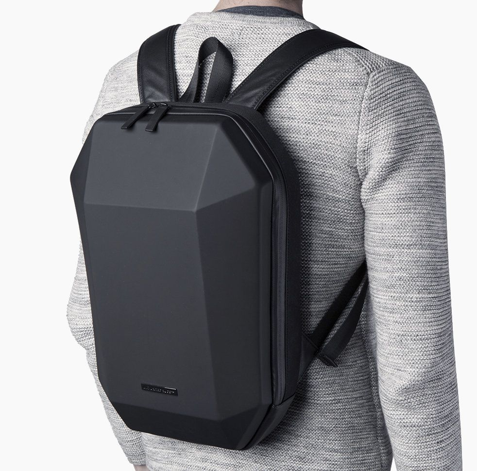 17eb39f0c4 United Nude Stealth Backpack Black Polyester + EVA + Nappa + Faux Leather   BackpackTraveling