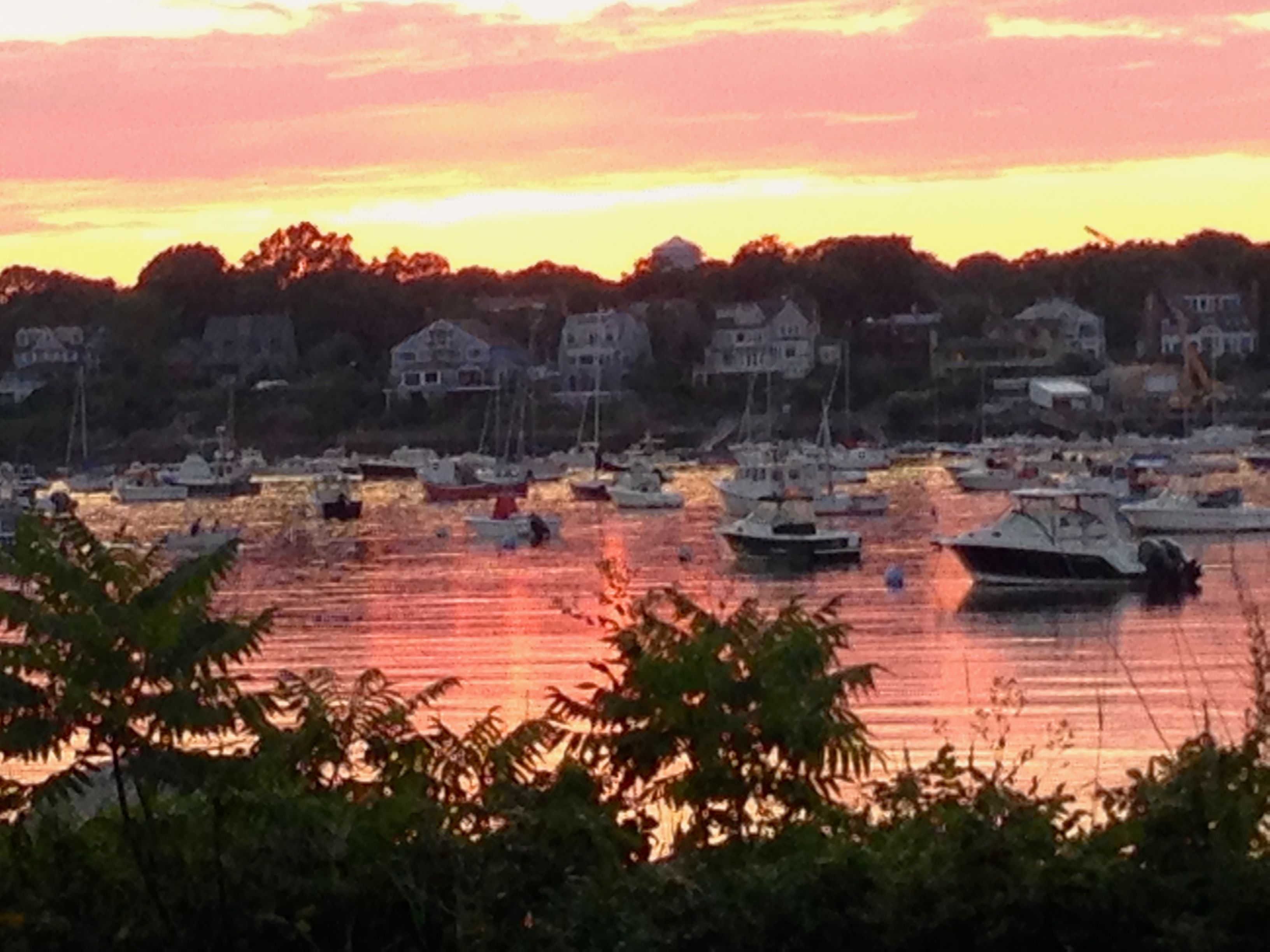 Marblehead Harbor, MA on fire at sunset! Marblehead, New