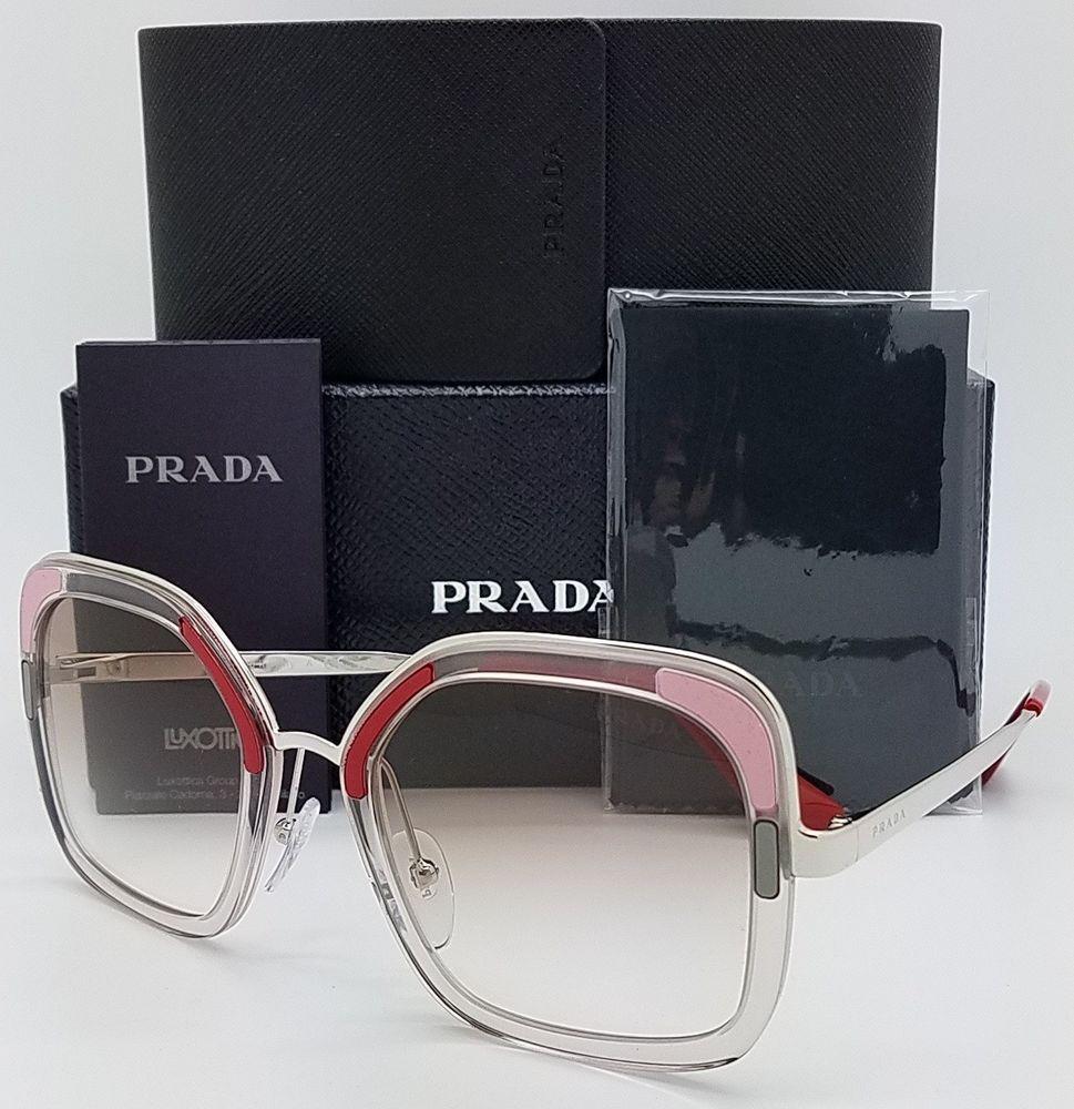 dd2ed86ad288 New Prada sunglasses PR57US LOH1L0 54 Brown Pink Clear Gradient AUTHENTIC  PR 57