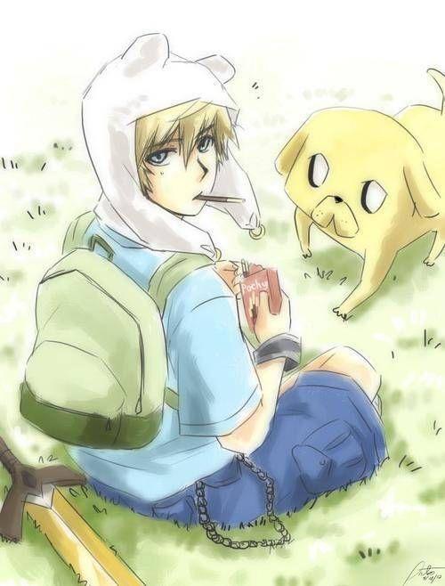 anime finn and jake - Adventure Time Fanart