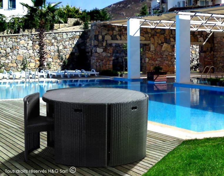 Salon de jardin avec fauteuils encastrables RONDO : Ce #meuble de ...