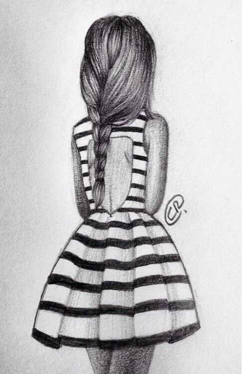Pin By Holly Santoro On Drawing Of Girl From Back With Images
