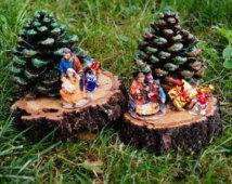 Christmas-Nativity with Christmas tree