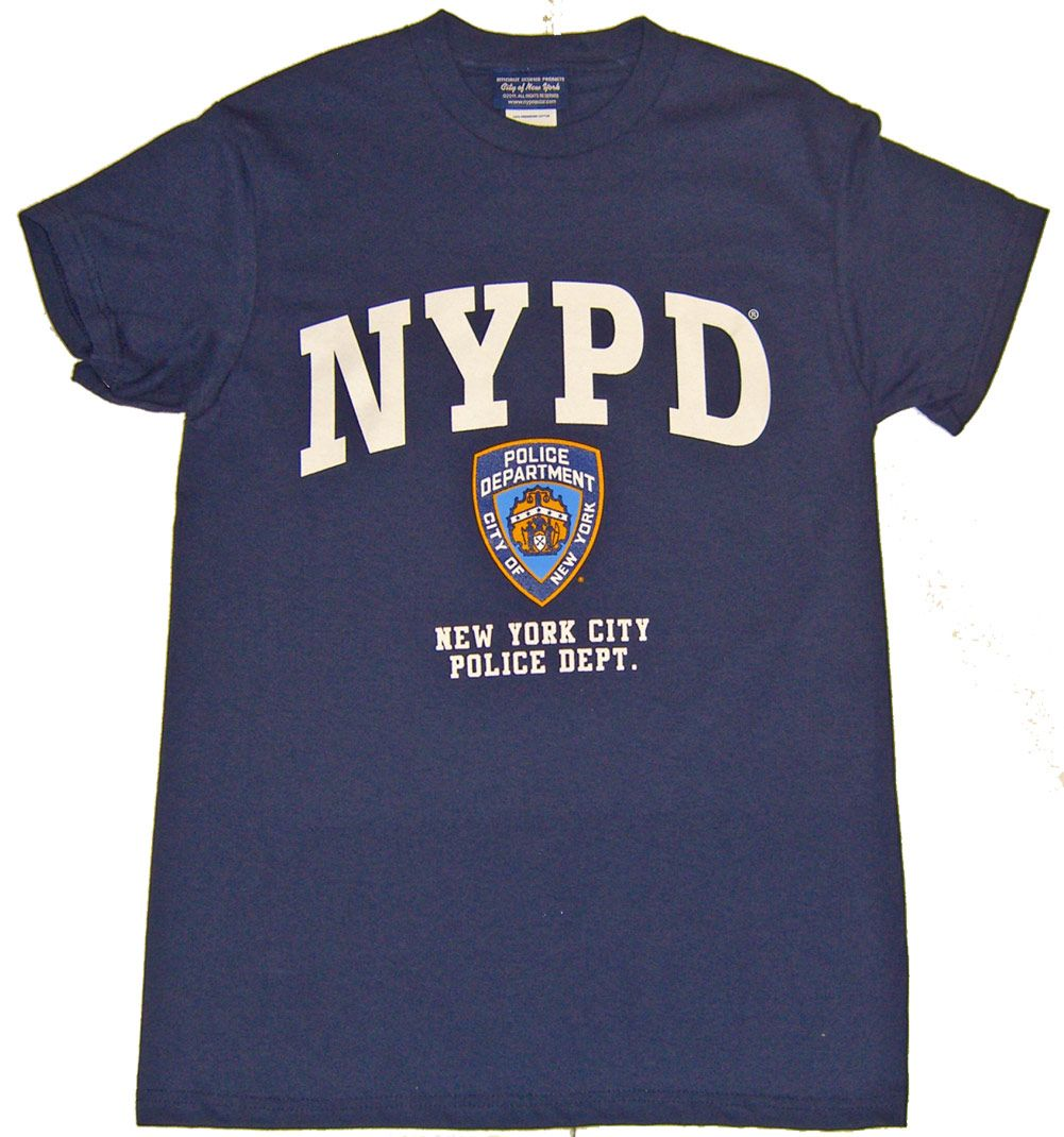 55174707d1a4 GrandSlamNewYork.com - NYPD Full Chest Color Shield Navy Tee, $12.99 (http: