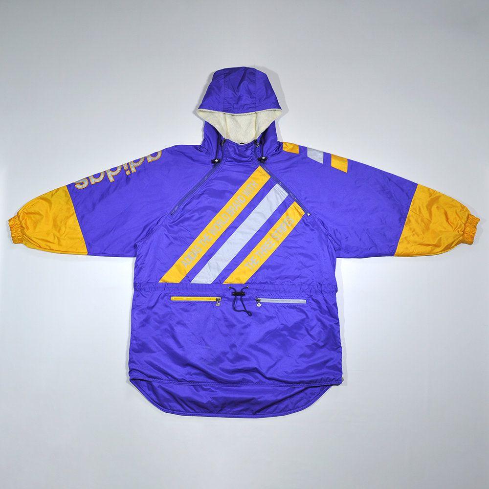 f4ccdad8c Rare Vintage 90s ADIDAS Snow Gear Rain Coat Winter Coat Jacket ADIDAS Big  Logo Trefoil ADIDAS