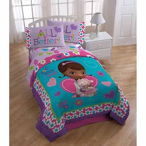 Disneys Doc Mcstuffins 4pc Twin Comforter And Sheet Set Bedding