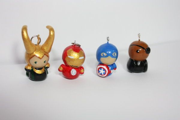 Avengers Clay Charms by ScribblesLover.deviantart.com