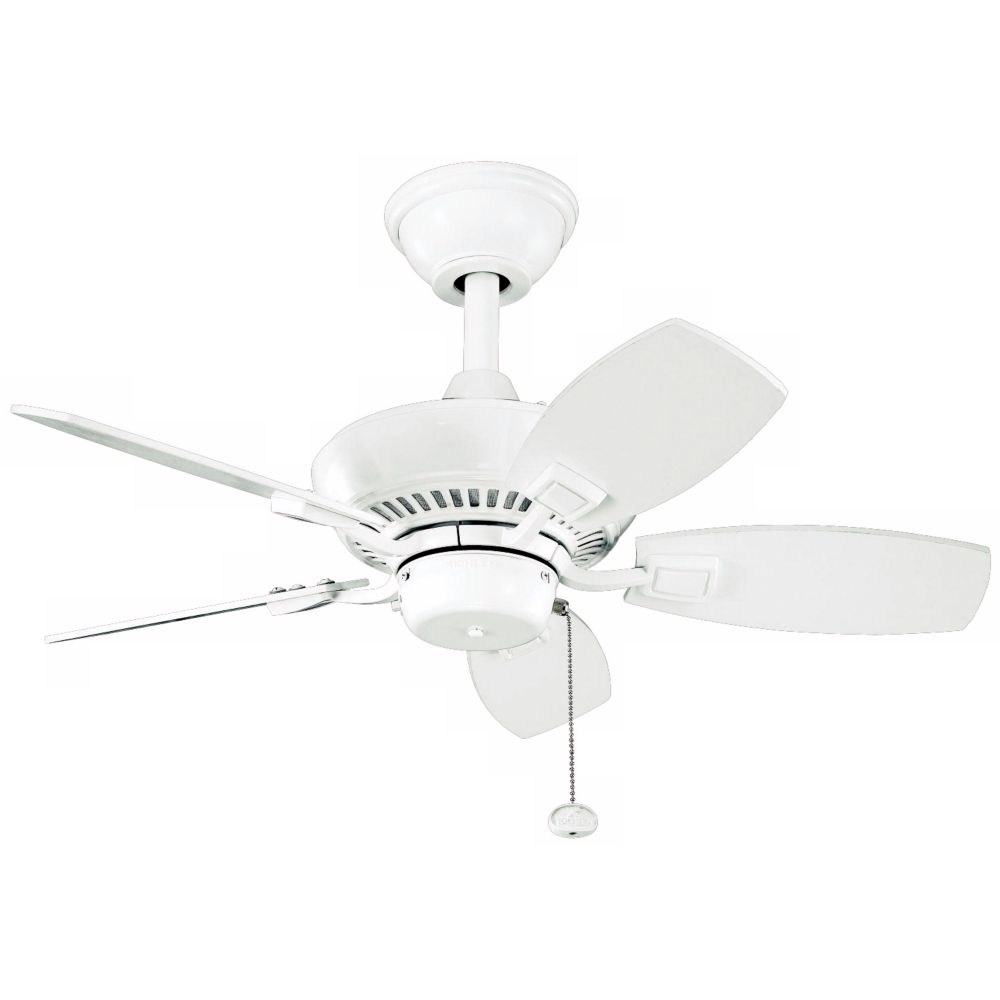 30 Kichler Canfield White Indoor Outdoor Ceiling Fan Style K9883