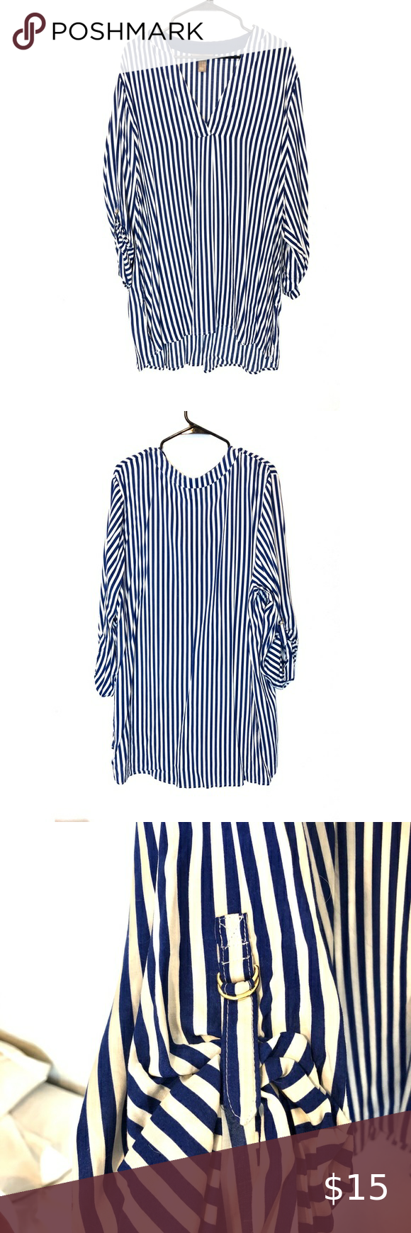 Photo of H&M Striped Tunic Plus Size H&M stripe tunic plus size – worn once for photo sho…