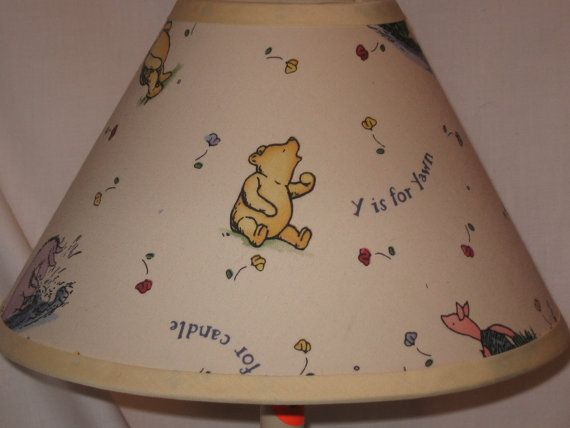 Winnie the pooh classic ivory lamp shade babies and nursery winnie the pooh classic ivory lamp shade mozeypictures Images