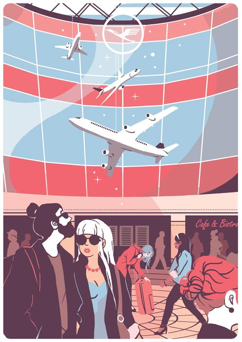 Bon Voyage Book Illustrations on Behance