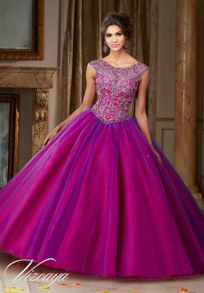 9b075239438 Morilee Vizcaya Quinceanera Dress 89104 JEWELED BEADING ON A LAYERED TULLE  BALL GOWN Matching Stole. Available in Kelley Green Navy