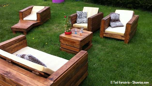Meuble De Jardin En Palettes Tuto Gratuit Diy Meuble Jardin