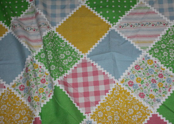Darling Vintage Sears Perma Prest 1970s Twin Size Bed Sheet Set