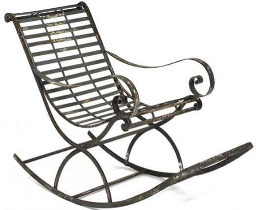 Charmant Vintage Reproduction French Art Nouveau Metal Rocking Chair | Design With  Confidence At Www.bluGloss.com
