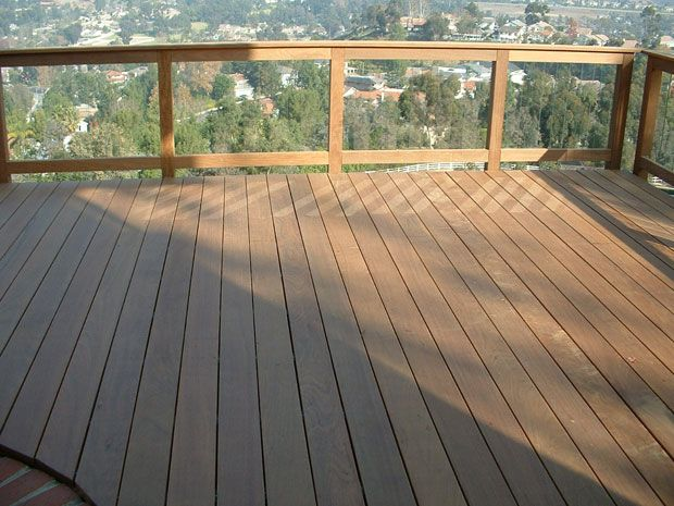 Trex deck with see through railing beach house deck - Exterior wood screws for fencing ...